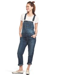 HATCH Maternity The Easy Denim Overall - Blue