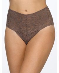 Hanky Panky - Retro High Waisted Lace Thong - Lyst