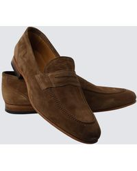 Hawes & Curtis - Tan Suede Loafer Size 7 Curtis - Lyst