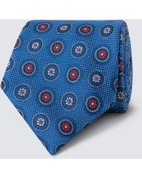 Hawes & Curtis - Royal Blue Geometric Medallions Tie - Lyst