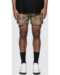 bd79f28176 Burberry Geometric-Print Swim Shorts in Purple for Men - Lyst