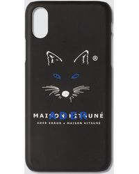 Maison Kitsuné - Black Ader Error Edition Fox Mustache Iphone X Case - Lyst