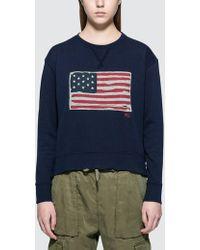 Polo Ralph Lauren - Us Flag Sweatshirt - Lyst