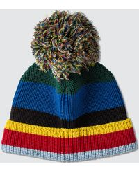 Loewe Eln Stripe Knit Beanie - Multicolour