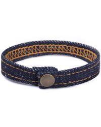 Mister | Denim Bracelet | Lyst