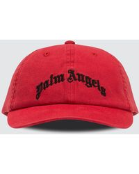 Palm Angels Red Arch Logo Cap