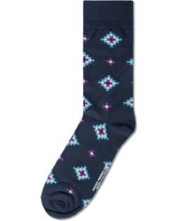 Richer Poorer - Navy Observer Socks - Lyst