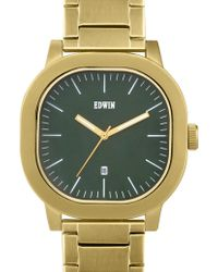 Edwin - Gold With Green Dial Anderson - Lyst