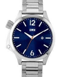 Edwin - Silver With Blue Dial Brook - Lyst