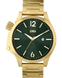 Edwin - Gold With Green Dial Brook - Lyst