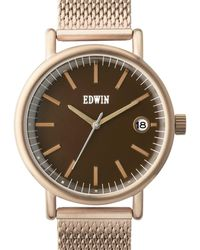 Edwin - Gold With Brown Dial Epic - Lyst