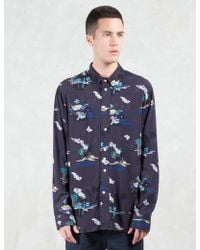 Red Ear - Tropical Pattern L/s Shirt - Lyst