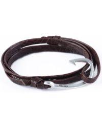 Miansai - Mojave Brown Silver Hook On Leather Bracelet - Lyst