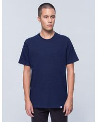 Norse Projects - James Indigo Twist S/s T-shirt - Lyst