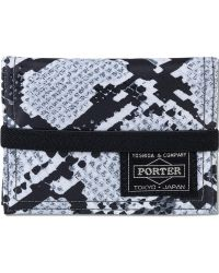 Head Porter - Python Band Card Case - Lyst