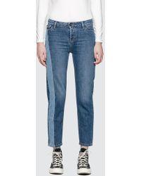 Calvin Klein Jeans - Straight Ankle Jeans With Dark Vert - Lyst