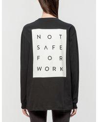 NSFW Clothing - Blocked Ls T-shirt - Lyst