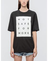 NSFW Clothing - Blocked Ss T-shirt - Lyst