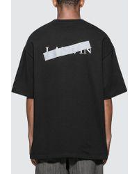 Lanvin Bar Print T-shirt - Black