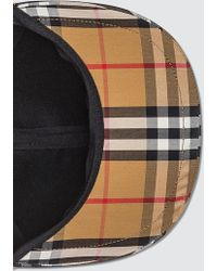 Burberry - Checked Cotton-canvas Baseball Cap - Lyst