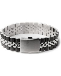 Mister - Chrome/black Mr. Band Bracelet - Lyst