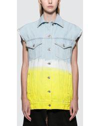 MSGM - Faded Tie & Dye Denim Jacket - Lyst