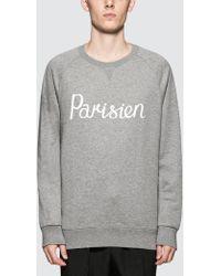 Maison Kitsuné - Parisien Sweatshirt - Lyst