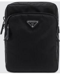 Prada - Nylon And Leather Trim Vertical Washbag - Lyst