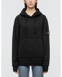 Stone Island - Hooded Sweatshirt - Lyst