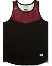 Mister - Wine Hide Tank Top - Lyst