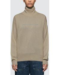 MM6 by Maison Martin Margiela - Tuckle Neck Knitwear - Lyst