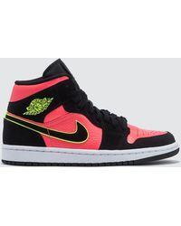 afa21cdf109c53 Nike Air Jordan 1 Retro Leather High-top Trainers in Black - Lyst