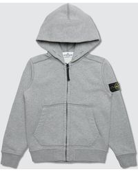 Stone Island - Basic Zip Up Hoodie (kids) - Lyst