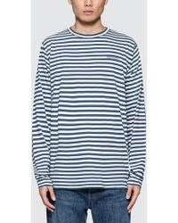 Norse Projects - James Logo Stripe L/s T-shirt - Lyst