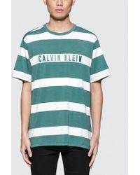 CALVIN KLEIN 205W39NYC - Stripe Print S/s T-shirt - Lyst