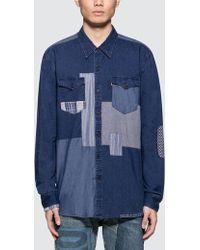 Levi's - Modern Barstow Western Patchwork Shirt - Lyst