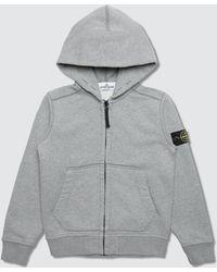 Stone Island - Basic Zip Up Infant Hoodie - Lyst