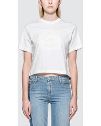 Calvin Klein Jeans - Cropped Logo S/s T-shirt - Lyst