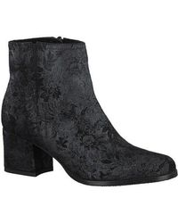 Tamaris - Floral Brocade Ankle Boot - Lyst