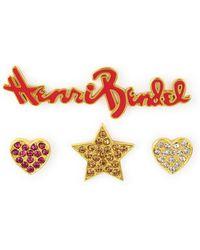 Henri Bendel - Stars & Heart Crystal Pin Set - Lyst