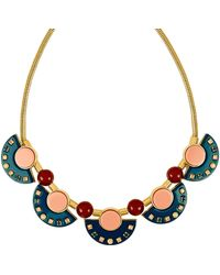 Henri Bendel - Resin Gem Collar Necklace - Lyst