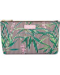 Henri Bendel - Palm Tree Large T Gusset Cosmetic Bag - Lyst