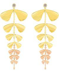 Henri Bendel - Fantasy Floral Linear Earring - Lyst
