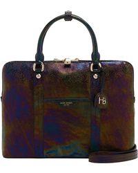 Henri Bendel - West 57th Petrol Briefcase - Lyst