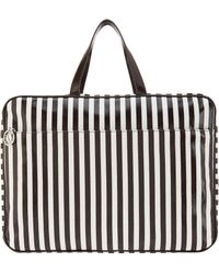 Henri Bendel - Brown & White Extra Large Carry All Bag - Lyst
