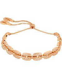 Henri Bendel | Luxe Pave Links Slider Bracelet | Lyst