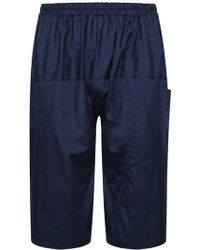 Raf Simons - Cropped Drop Crotch Trousers Navy - Lyst