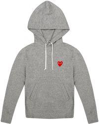 Comme des Garçons - Play Women's Red Heart Hoodie Grey - Lyst