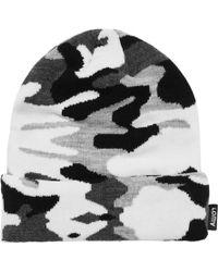 Gosha Rubchinskiy - Camouflage Beanie Hat Black/white - Lyst