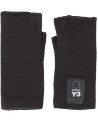 Y-3 - Fingerless Logo Gloves - Lyst